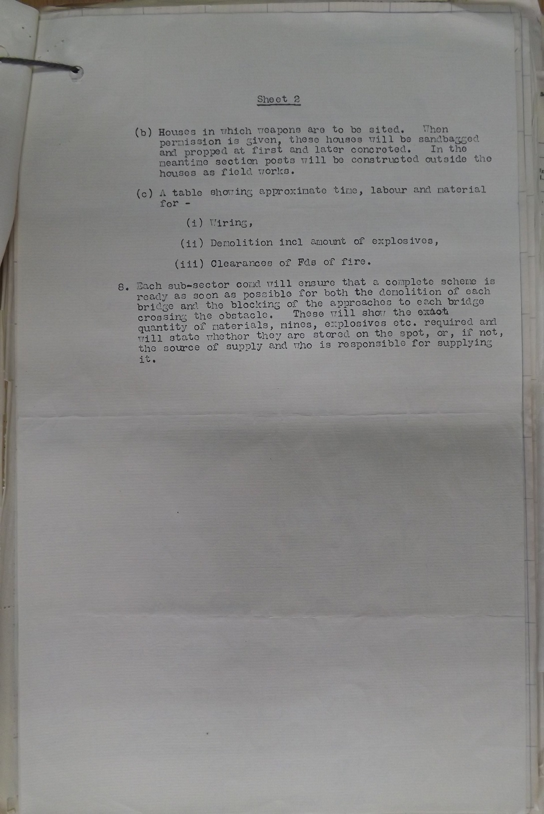 11 Inf Bde Operation Order No 3 19 Oct 1939 pge 5