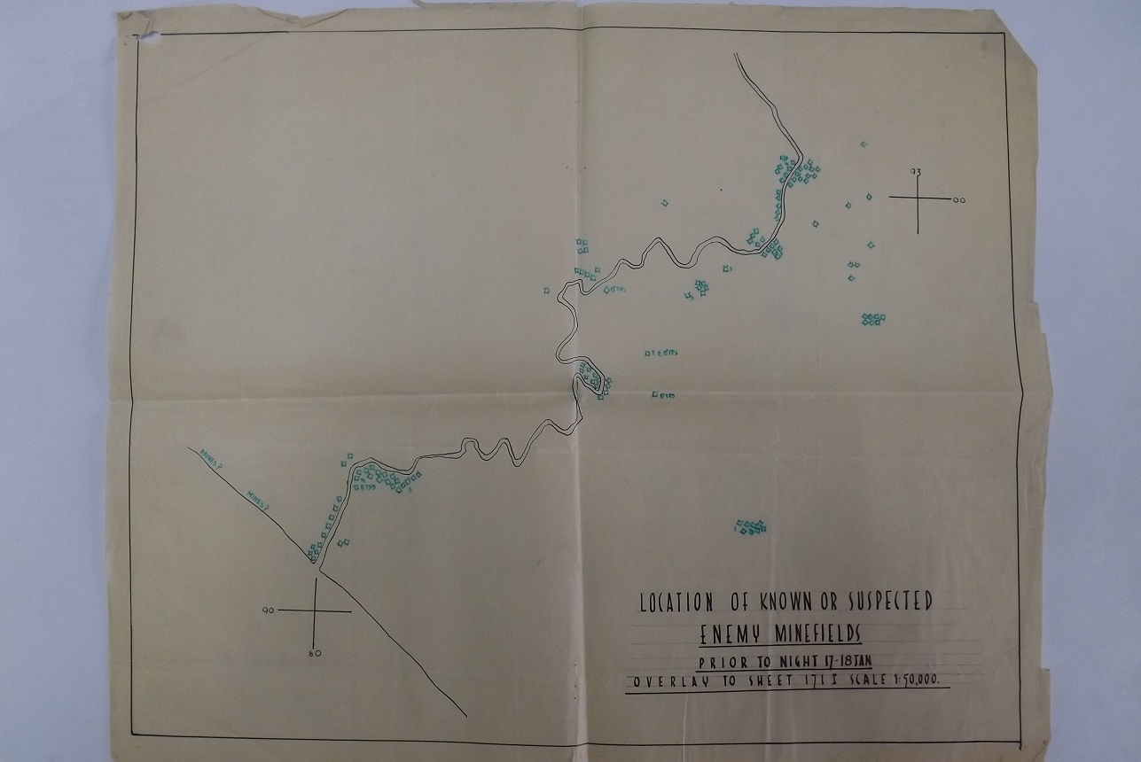 Garigliano Area Minefield Map