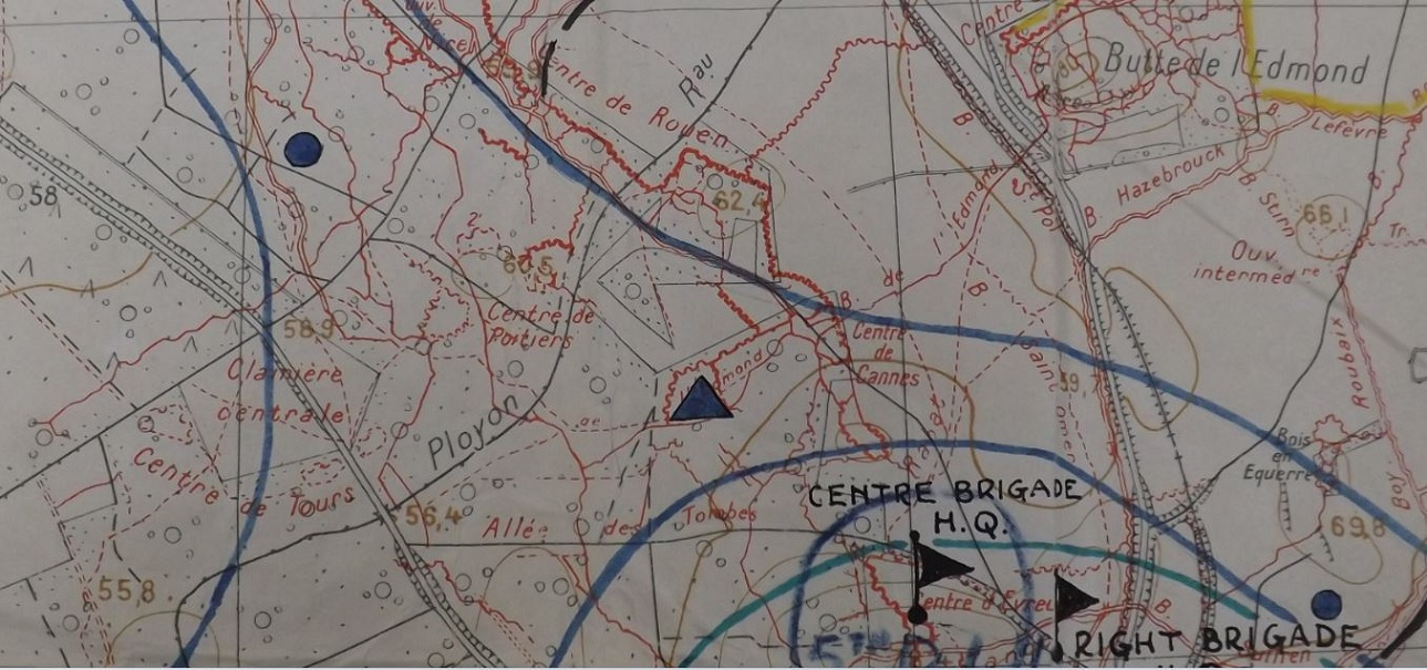 Above Trench map copy taken from The